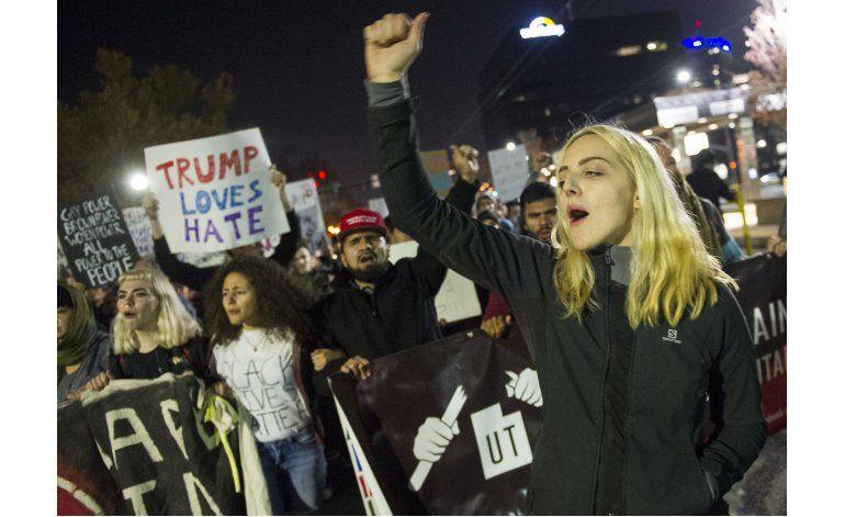 Temor e indignación avivan protestas contra Trump