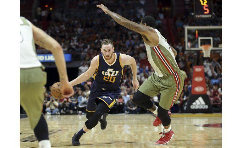 Hayward y el Jazz agravan penurias del Heat