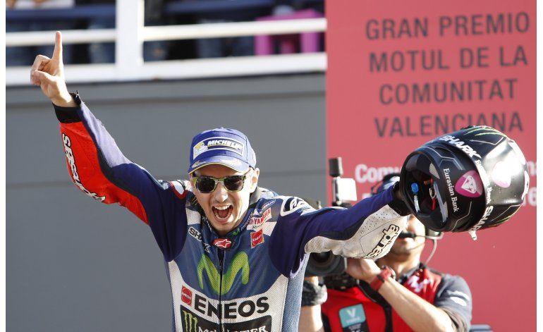 MotoGP: Lorenzo cierra la temporada con victoria en Valencia