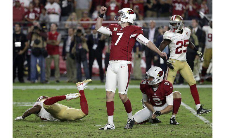 Arizona rescata triunfo ante 49ers gracias a Catanzaro