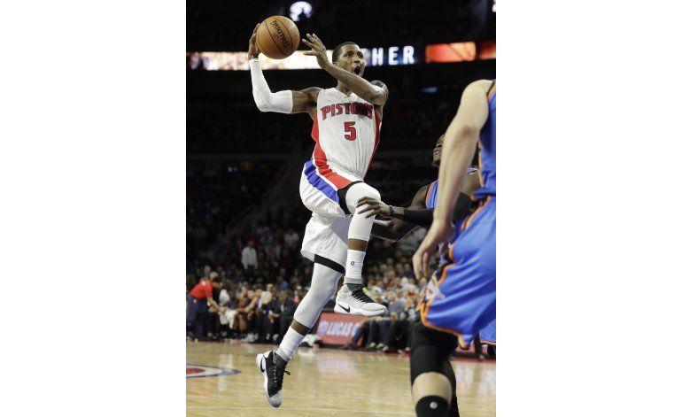 Harris guía a Pistons a victoria sobre Thunder