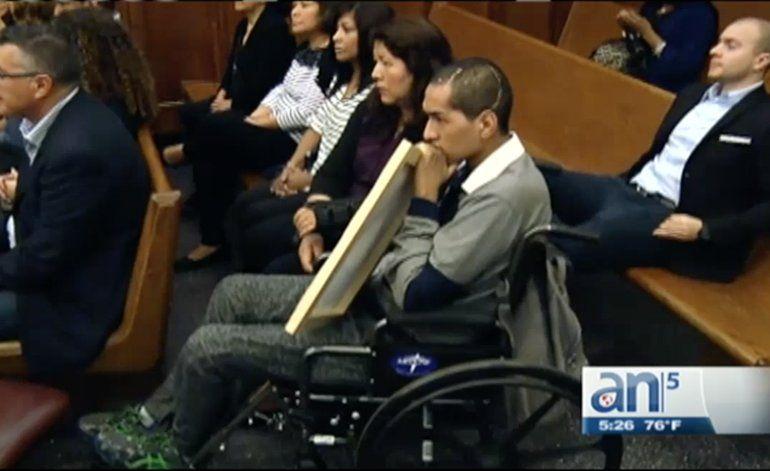 En Corte joven que quedó paralítico y con daños cerebrales a causa de accidente