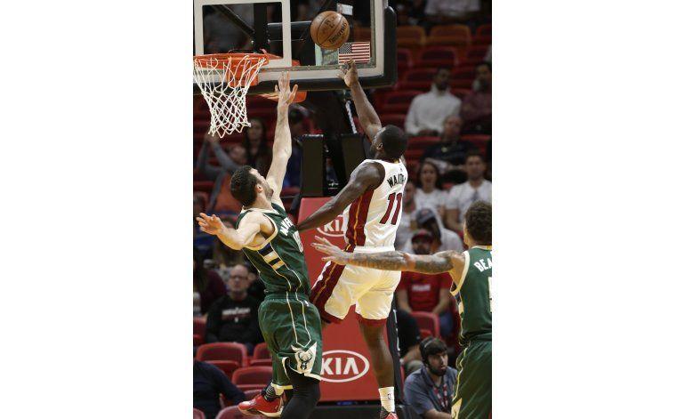 Heat vencen 86-73 a Bucks y rompen racha de 6 derrotas