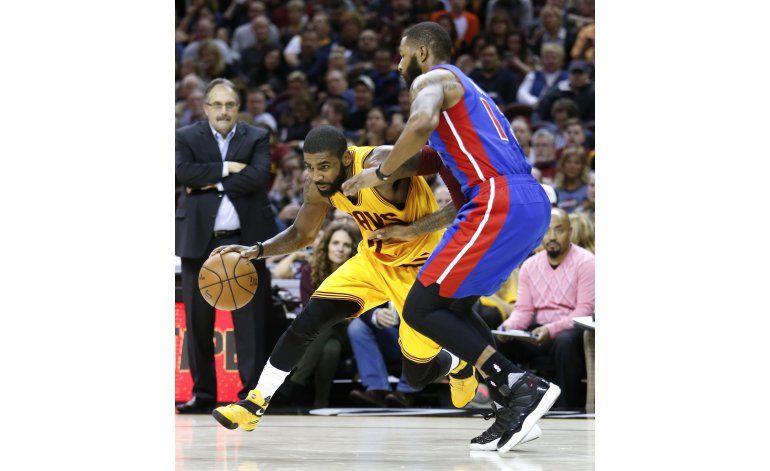 Irving y James guían a Cavs a triunfo sobre Pistons