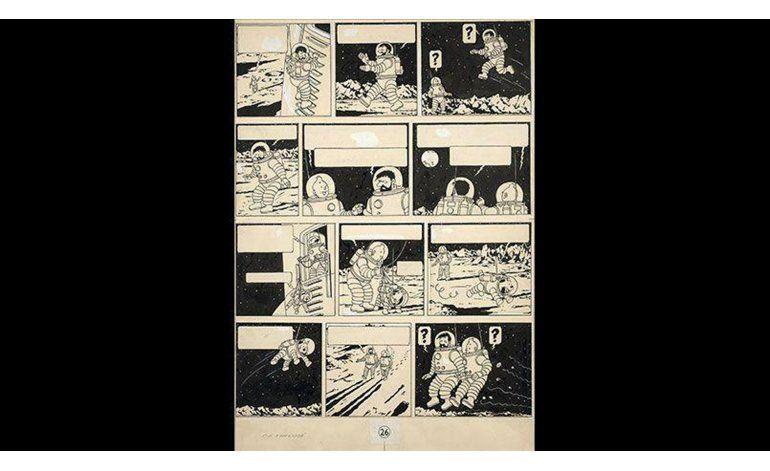 Dibujo raro de Tintin se subasta por monto récord en París