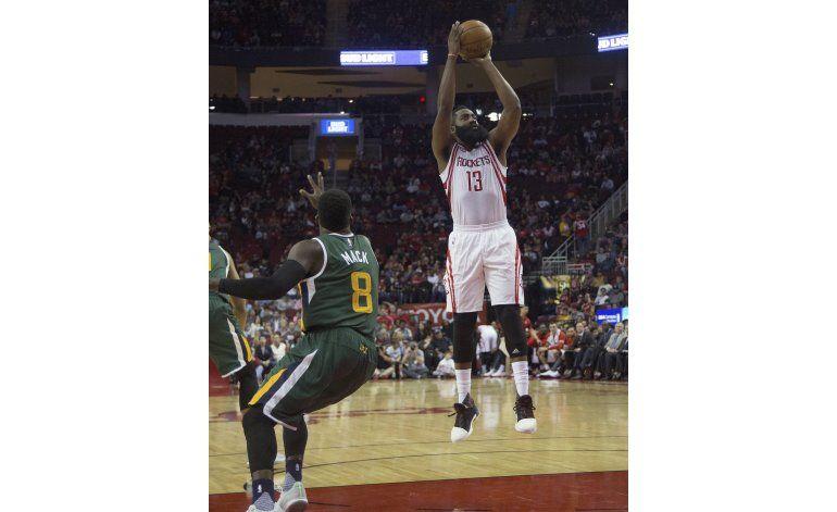 Con doble doble de Harden, Rockets vencen al Jazz