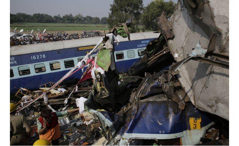 Suben a 115 los muertos por tren descarrilado en India