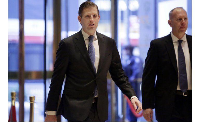 Papel de hijos de Trump crea temor de conflicto de intereses