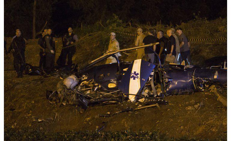 No hallan agujeros de bala en helicóptero estrellado en Río