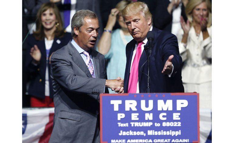Farage halagado por sugerencia de Trump de ser embajador