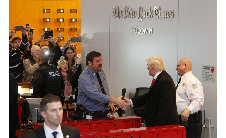 Trump se reúne con periodistas, director general de NY Times