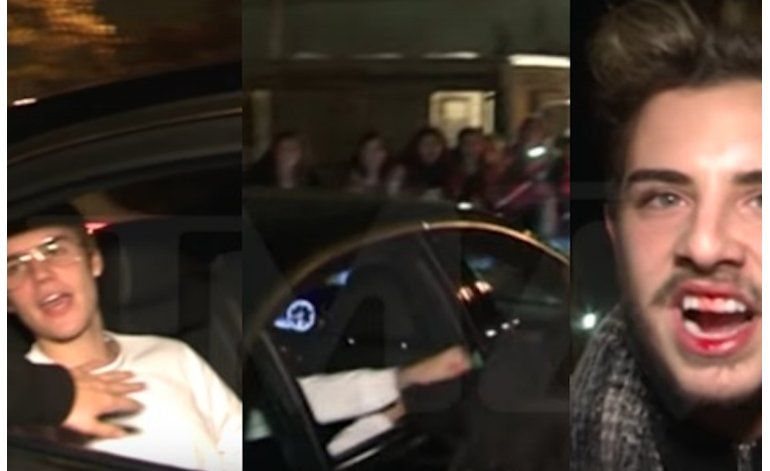 Justin Bieber le pegó a un fanático en Barcelona y lo dejó sangrando