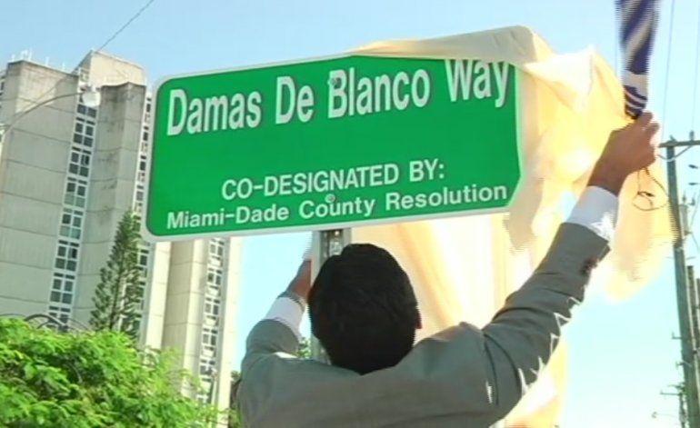 Autoridades de Miami inauguraron la calle de Las Damas de Blanco en un sector cercano a la Calle 8