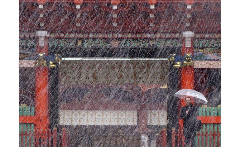 Cae nieve en Tokio en noviembre por primera vez en 54 años