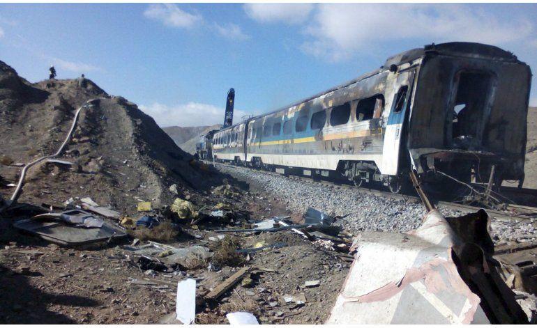 Choque de trenes deja 43 muertos, 100 heridos en Irán