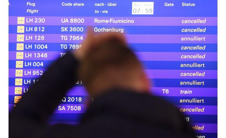 Lufthansa cancela cientos de vuelos en su 3er. día de huelga
