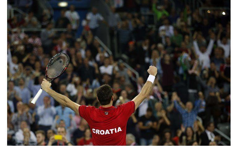 Argentina empata 1-1 con Croacia en final de Copa Davis