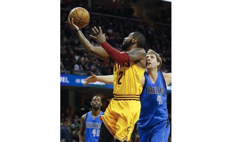 Love e Irving encabezan paliza de Cavaliers a Mavericks