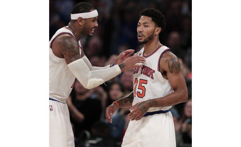 Anthony rompe empate en la prórroga; Knicks vencen a Hornets