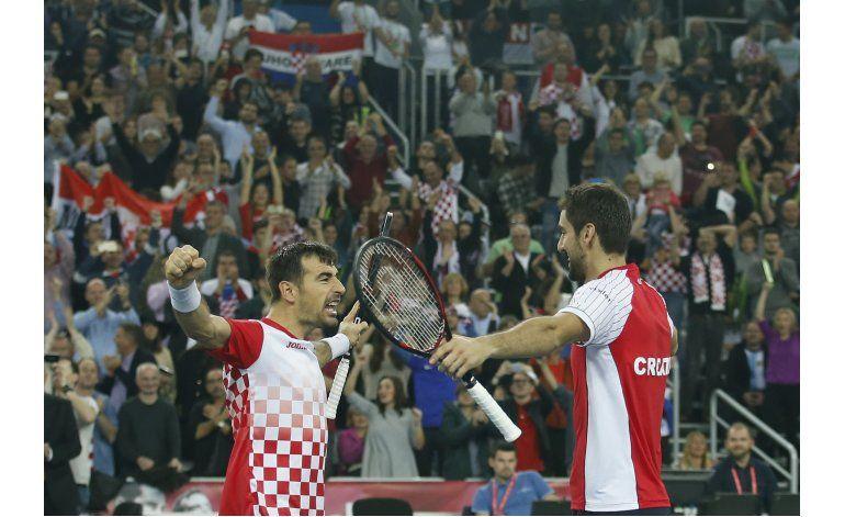 Davis: Croacia vence a Argentina en dobles y aventaja 2-1