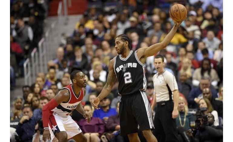Spurs vencen a Wizards; hilan 9no triunfo
