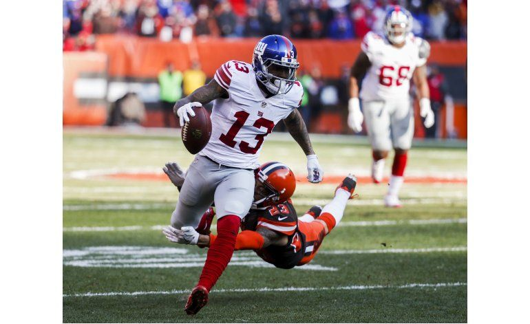 Manning y Giants vencen a Browns en su 6to triunfo en fila