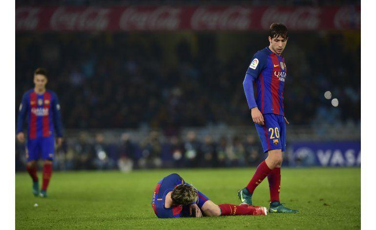 Barcelona tropieza de nuevo en Anoeta y se aleja de la punta