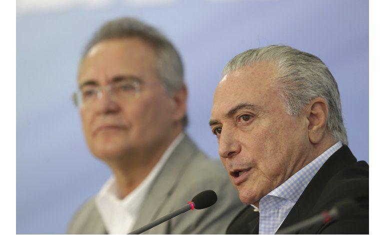 Manifestantes exigen la expulsión del presidente brasileño