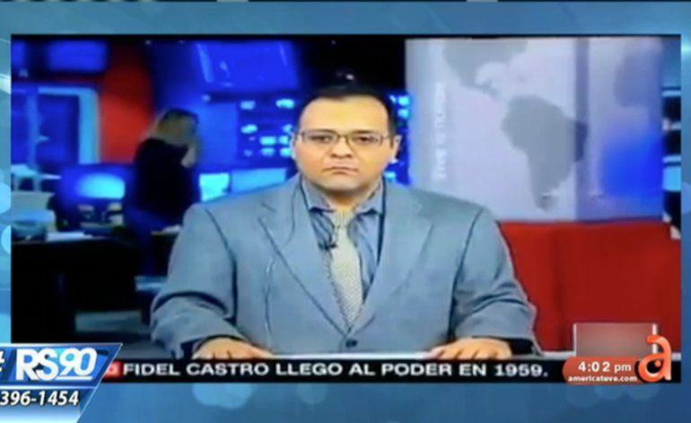 CNN pone a productor a dar la noticia de muerte de Fidel Castro
