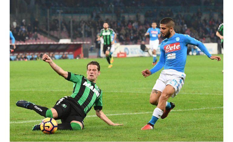 Napoli desperdicia ocasiones y empata 1-1 con Sassuolo