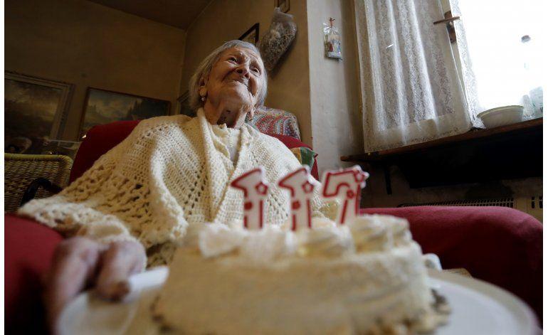 Mujer italiana cumple 117 años; es la más longeva del mundo