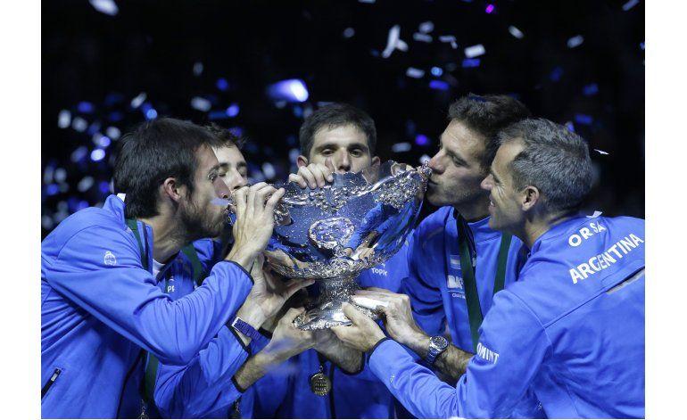 Davis: Trofeo y el campeón llegan con Del Potro a Argentina