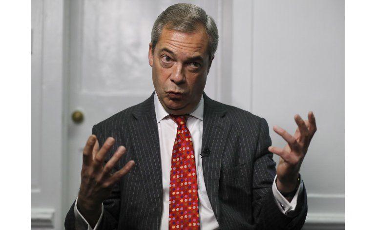 Farage: Triunfo de derecha en Francia sería el fin de la UE