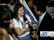hija de andy garcia asiste a concentracion de la calle 8