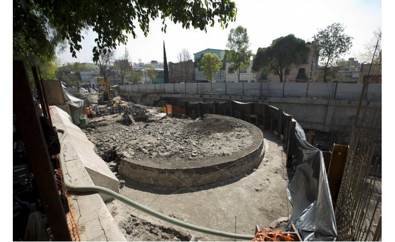 Hallan templo circular prehispánico en la Ciudad de México