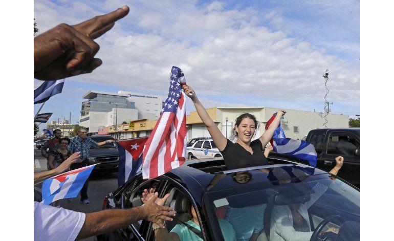 Exiliados en Miami se manifiestan por la liberación de Cuba