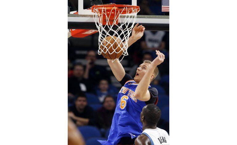 Porzingis y los Knicks superan a Towns y los Timberwolves