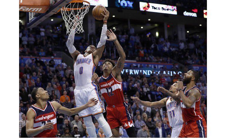 Westbrook logra triple doble; Thunder gana en tiempo extra