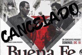 cancelan gira de buena fe por eeuu tras comentarios en apoyo al dictador fidel castro