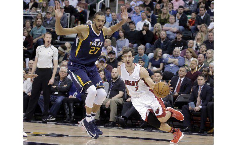 Dragic ayuda con 27 puntos a victoria de Heat sobre Jazz