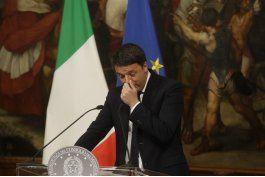 renzi arriba a presidencia para presentar renuncia