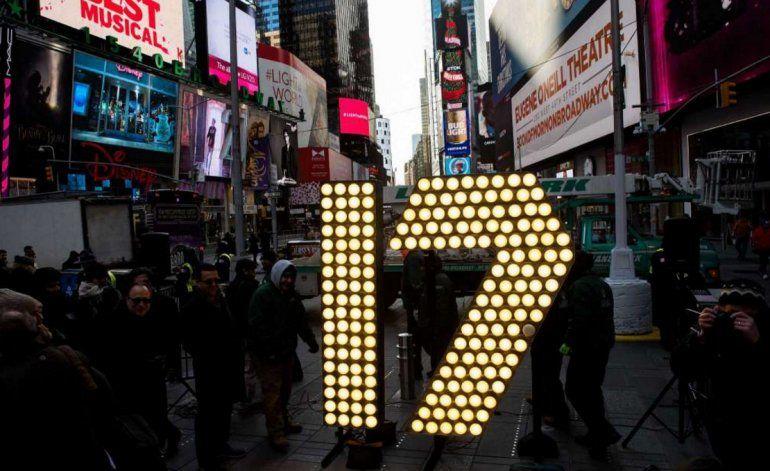 Times Square en Nueva York afina los detalles para la celebración de año nuevo
