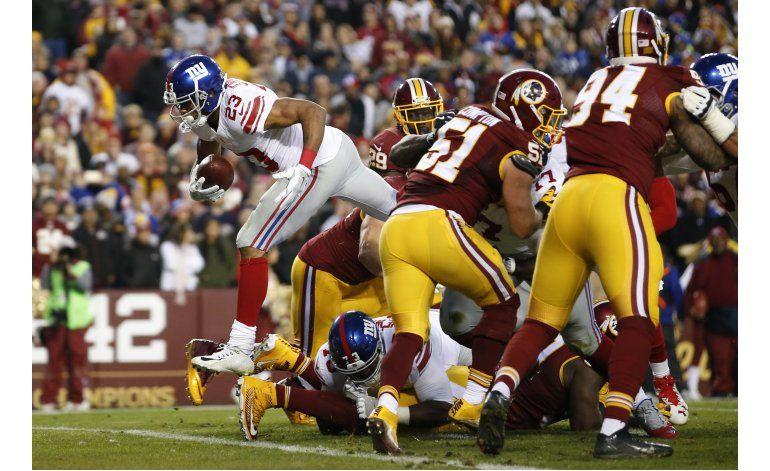 Giants vencen 19-10 a Redskins y los dejan sin postemporada