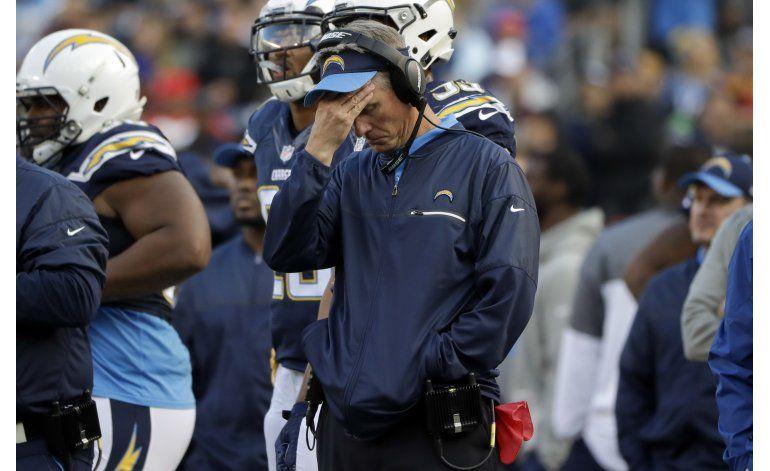 Chargers despiden a su entrenador Mike McCoy