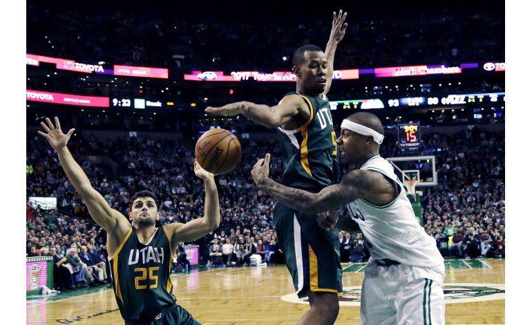Con doble doble de Thomas, Celtics vencen al Jazz