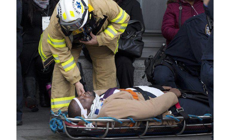 Accidente de tren en Nueva York deja unos 100 heridos