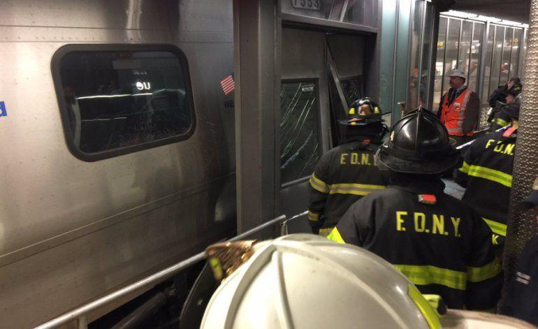 Más de 100 heridos deja accidente de tren en New York