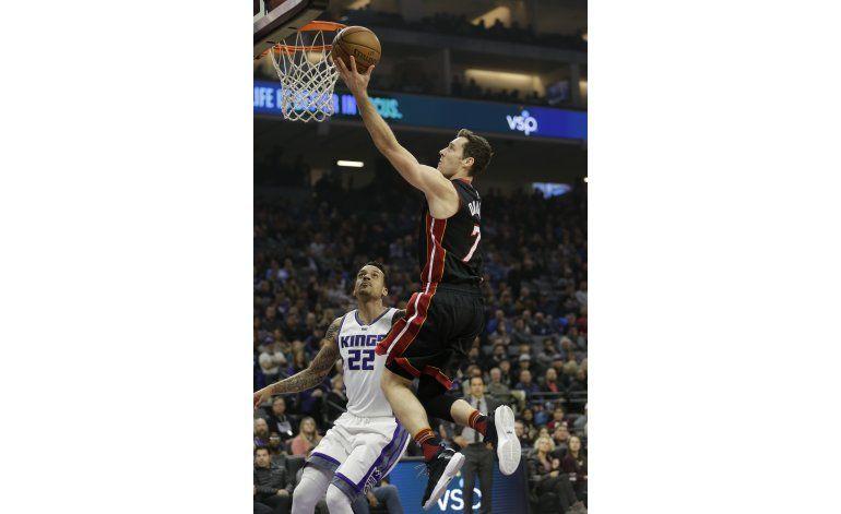 Heat frena seguidilla de seis derrotas ganando a Kings