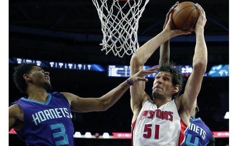 Pistons se aferra al triunfo sobre Hornets