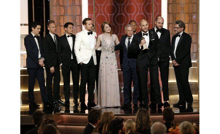 La La Land y Moonlight triunfan en los Globos de Oro